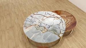 black marble table white marble top