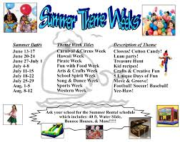 Summer Camp Weekly Schedule Summer 2016 Theme Week Schedule Official Grace Community School Blog