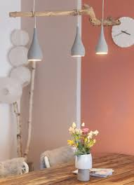 Lampe In Beton Optik Und Mit Holzstamm Selber Machen Ein