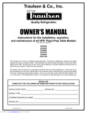 traulsen vpss manuals manuals and user guides for traulsen vps48s we have 3 traulsen vps48s manuals available for pdf owner s manual specifications