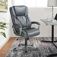 Serta Works Executive Office Chair Bonded Leather Gray