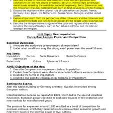 Reasons For Imperialism European Power And Imperialism Lesson Plan Tpt