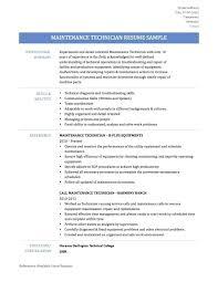 Resume Supply Technician Resume
