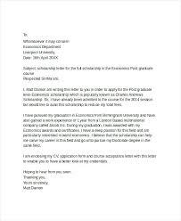 Letters For Scholarships Scholarship Cover Letter Examples Cover Letter Sample For