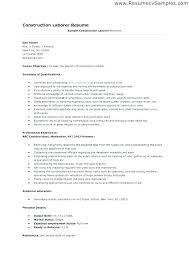Construction Worker Job Description For Resume Best of Construction Resume Samples Construction Job Resume Samples Download