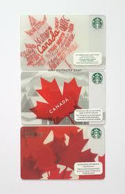 starbucks card canada maple leaf 3 cards set