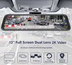 <b>12 Inch 2K</b> Video Stream Car <b>RearView</b> Mirror DVR 2.5D Screen ...