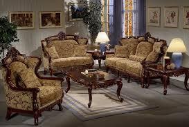 italian old wooden sofa set living