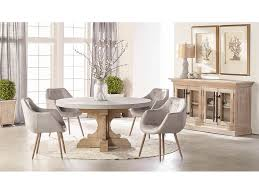 bastille round dining table w concrete top set