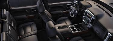 2018 gmc sierra 1500 crew cab interior with black leather