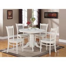enchanting dining room ideas design with white round table along four chair on the gray carpet