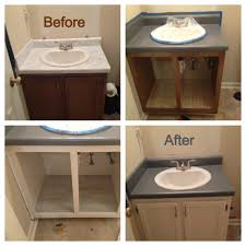 Used Bathroom Sinks Bathroom Renovation On A Mega Budget I Used Rustoleum Countertop