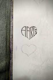 Aarti name in the shape of the heart ...