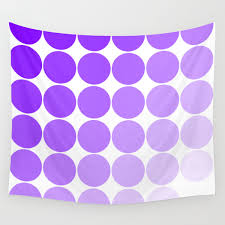 Violet Circle Color Chart Wall Tapestry