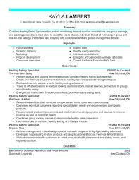 Food Specialist Resume Examples Free To Try Today MyPerfectResume Custom Science Resume