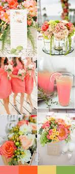 Peach and green wedding color palatte for 2016 spring weddings | Top 10 Wedding  Colors for