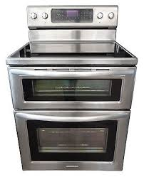 kitchenaid double oven range. kitchenaid kers505xss 30 freestanding double oven electric range 5 for incredible property stove decor n