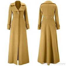 hot ing five colors with five sizes floor length winter coat whole fashion women trench coat