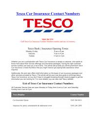tesco car insurance contact numbers by phone number customer service issuu