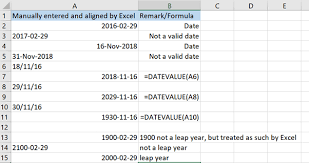 Ensuring Dates Are Valid And Recognized Correctly By Excel