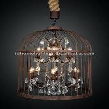 bird cage chandelier metal