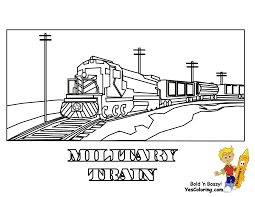 Every fan of train coloring pages will love painting coloring pages of this cool coloring pages. Ironhorse Army Train Coloring Pages Yescoloring Free Military