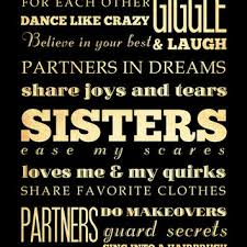 Inspirational Quotes For Sisters Stunning Best Sister Wall Decor Products On Wanelo