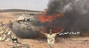 Image result for انهدام 20 خودروی نظامی در پاتک سنگین انصارالله به نیروهای ائتلاف سعودی