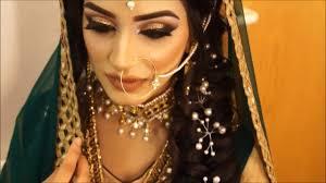 mehndi bridal makeup hair arabic asian indian stani gold smokey eye makeover lipstick you
