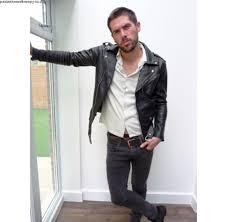 fashion mens black leather jacket slim fit real biker jacket new xs xl vintage style