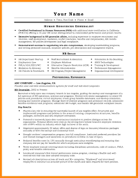 Hr Resumes Compensation And Benefits Resume Example Human
