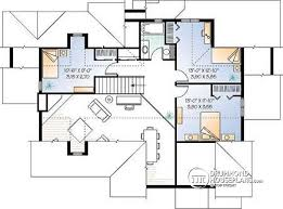 2nd level Beautiful Craftsman house plan with open floor plan concept, large