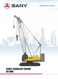50 Ton Crawler Crane Load Chart Sany Scc1000e Crawler Crane Sany Pdf Catalogs