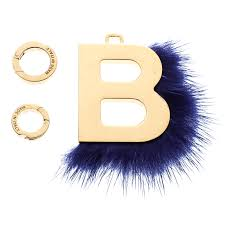 fendi gold tone ab letter b mink
