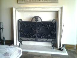 wilshire fireplace hand wrought iron freestanding mesh screen fireplace at fireplace beach wilshire fireplace
