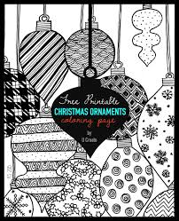 Small Picture Christmas Ornaments Adult Coloring Page U Create