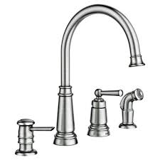 Moen SRS Edison Stainless e Handle High Arc Kitchen Faucet