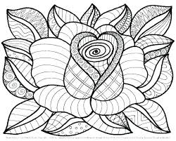 Flowers Coloring Pages Free Flower From Page Printable Ma Small
