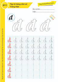 Chủ đề 11: Tập tô bảng chữ cái tiếng Việt theo mẫu - Dạy trẻ tại nhà Sweet  Book
