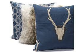 mountain modern furniture. DV Kap Pillows Navy, Fur, Deer Mountain Modern Furniture