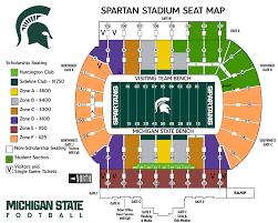 Michigan State Basketball Arena Seating Chart Unexpected Michigan State University Football Stadium