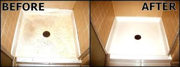 how to clean a fiberglass tub cleaning a fiberglass tub surround view before after clean stained