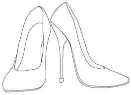 shoes heels drawing. high heel shoes coloring pages sketch page heels drawing s