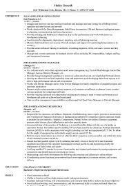 Field Operations Resume Samples | Velvet Jobs