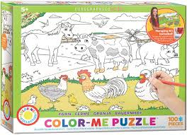 Color Me Puzzle - Farm - Eurographics - Toy Sense