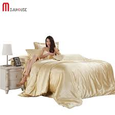 cool bed sheets for summer. Brilliant Summer Aristocratic Silk Bedding Set Solid Color High Quality Duvet Cover  Pillowcase Sheets Soft Silky Summer Cool Throughout Bed For L