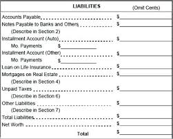 financial statement format personal income statement template personal financial statement