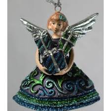 Weihnachtsengel Engel Mit Geschenk Deko Hänger Christbaumschmuck Blau Grün 12 Cm