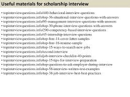 Scholarship Interview Questions List Of Things That You Should Care About Coming To An