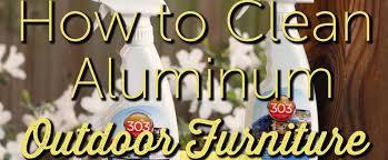 caring for aluminum furniture